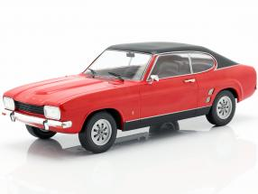 Ford Capri MK I year 1973 red / black 1:18 Model Car Group