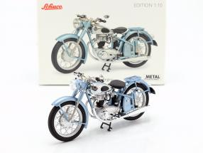 Horex Regina motorcycle with single seat light blue metallic 1:10 Schuco