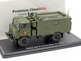 GAZ 66 Funkkoffer R-142 NVA truck military vehicle dark olive 1:43 Premium ClassiXXs