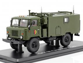 GAZ 66 Funkkoffer R-142 NVA Militärfahrzeug dunkel oliv 1:43 Premium ClassiXXs