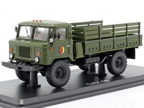 GAZ 66 platform truck NVA military vehicle dark olive 1:43 Premium ClassiXXs