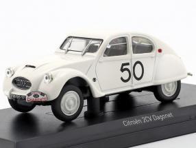 Citroen 2CV Dagonet #50 Rallye des Charentes 1956 weiß 1:43 Norev