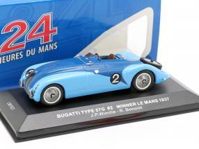 Bugatti Type 57G #2 Wimille, Benoist Winner 24h LeMans 1937 1:43 Ixo