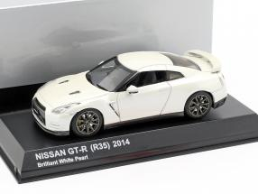 Nissan GT-R (R35) year 2014 brilliant pearl white 1:43 Kyosho