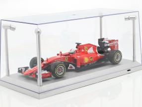 Single showcase silver with 4 Led Lamps for modelcars in scale 1:18 Triple9