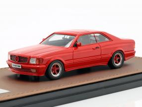 Mercedes-Benz AMG C126 6.0 Wide Body year 1984-1985 red 1:43 GLM