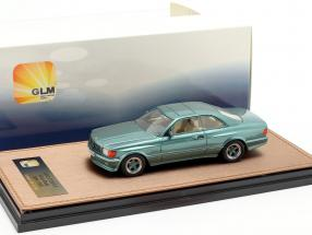 Mercedes-Benz AMG C126 6.0 Wide Body year 1984-1985 green metallic 1:43 GLM