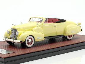 Cadillac V16 Convertible coupe Open Top year 1938 cream yellow 1:43 GLM