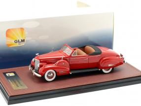 Cadillac V16 Convertible coupe Open Top year 1938 red 1:43 GLM