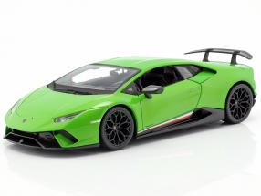 Lamborghini Huracan Performante year 2017 green metallic 1:18 Maisto
