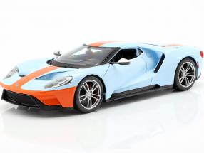 Ford GT Gulf year 2017 light blue / orange 1:18 Maisto