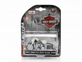 Harley-Davidson FLH Duo Glide year 1962 black / white / chrome 1:24 Maisto