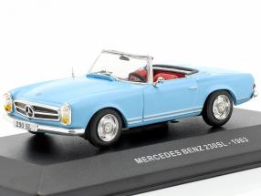 Mercedes-Benz 230SL Roadster (W113) year 1963 light blue 1:43 Solido