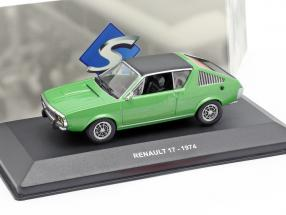 Renault 17 year 1974 green metallic / black 1:43 Solido