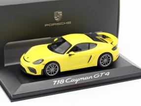Porsche 718 (982) Cayman GT4 Year 2019 yellow 1:43 Minichamps