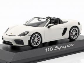 Porsche 718 (982) Boxster Spyder year 2019 white 1:43 Minichamps