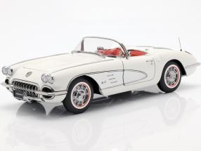 Chevrolet Corvette built in 1958 white 1:18 AUTOart