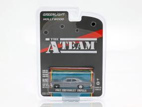 Chevrolet Impala year 1967 TV series The A-Team (1983-87) blue gray 1:64 Greenlight