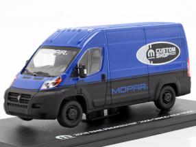 Ram ProMaster 2500 Cargo van year 2018 blue / black 1:43 Greenlight
