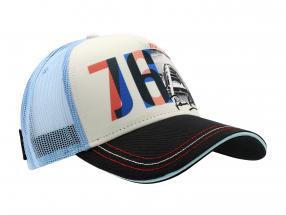 James Hunt Cap JH76 World Champion Formel 1 1976 schwarz / weiß / blau / rot