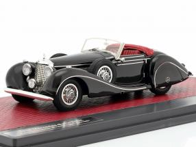 Mercedes-Benz 540K Special Roadster Sindelfingen year 1939 black 1:43 Matrix