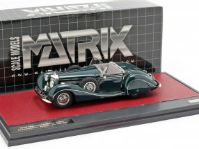 Mercedes-Benz 540K Special Roadster Sindelfingen year 1939 dark green 1:43 Matrix