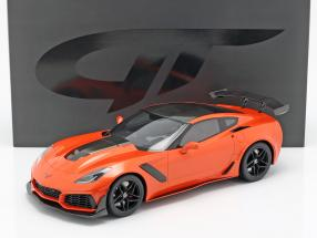 Chevrolet Corvette ZR1 year 2019 Sebring orange 1:12 GT-Spirit