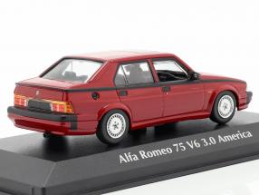 Alfa Romeo 75 V6 3.0 America year 1987 red