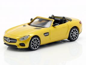 Mercedes-Benz AMG GT S Roadster year 2015 yellow metallic 1:87 Minichamps