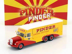 Bernard 28 Electrical Truck Pinder circus year 1951 yellow / red 1:43 Direkt Collections