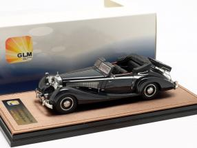 Maybach Zeppelin DS8 Convertible Open Top Construction year 1933 dark blue 1:43 GLM