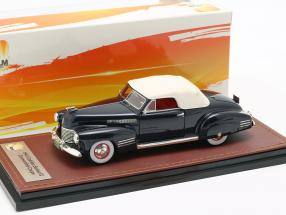 Cadillac Series 62 Convertible Closed Top  year 1941 dark blue 1:43 GLM