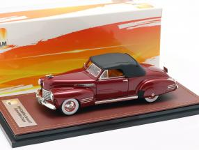 Cadillac Series 62 Convertible Closed Top year 1941 dark red 1:43 GLM