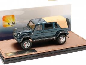 Mercedes-Benz Maybach G650 Landaulet Closed Top year 2017 blue metallic 1:43 GLM