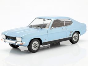 Ford Capri MK I 1600 GT year 1973 light blue metallic 1:18 Model Car Group