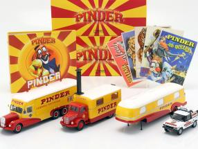 4-Car Set Pinder circus plus additional accessories 1:43 Direkt Collections