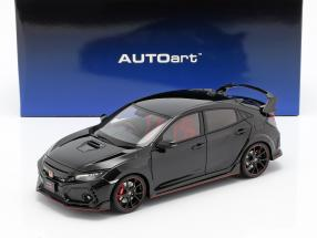 Honda Civic Type R (FK8) year 2017 crystal black pearl 1:18 AUTOart