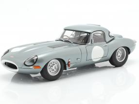 Jaguar Lightweight E-Type with removable Top year 2015 silver 1:18 AUTOart
