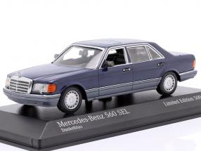 Mercedes-Benz 560 SEL (V126) year 1990 dark blue 1:43 Minichamps