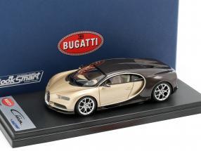 Bugatti Chiron Genfer Autosalon 2016 gold / braun 1:43 LookSmart