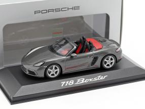 Porsche 718 (982) Boxster year 2016 grey metallic 1:43 Minichamps