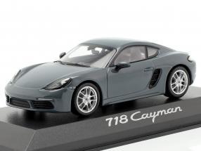 Porsche 718 Cayman Year 2016 dark gray 1:43 Minichamps