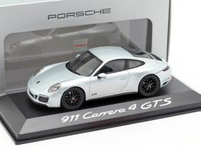 Porsche 911 Carrera 4 GTS silver 1:43 Herpa