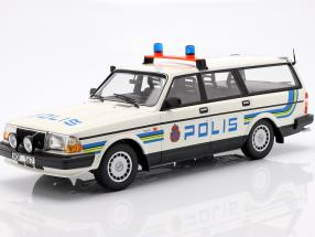 Volvo 240 GL Break police Sweden year 1986 white 1:18 Minichamps