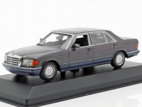 Mercedes-Benz 560 SEL (V126) year 1990 violet metallic 1:43 Minichamps