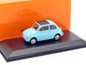 Fiat 500 L year 1965 light blue 1:43 Minichamps