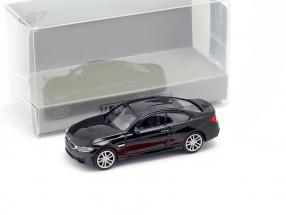 BMW M4 coupe year 2015 black metallic 1:87 Minichamps