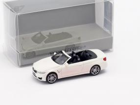 BMW M4 Cabriolet year 2015 white 1:87 Minichamps