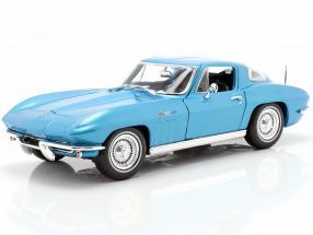 Chevrolet Corvette Year 1965 blue metallic 1:18 Maisto
