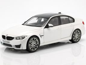 BMW M3 F80 Competition Year 2016 mineral white 1:18 Norev
